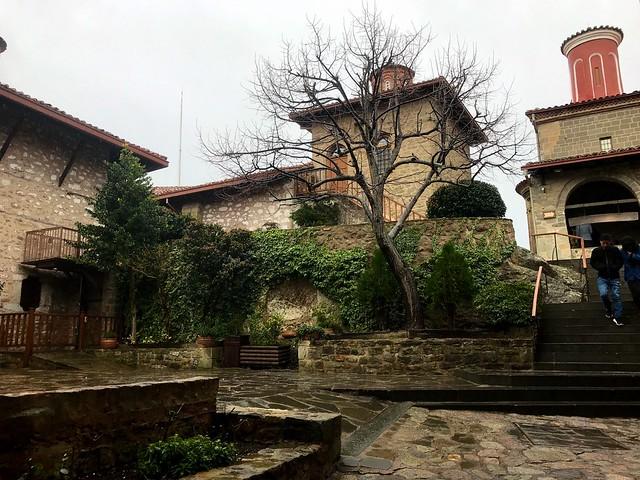In St Stephen's Monastery in meteora courtyard