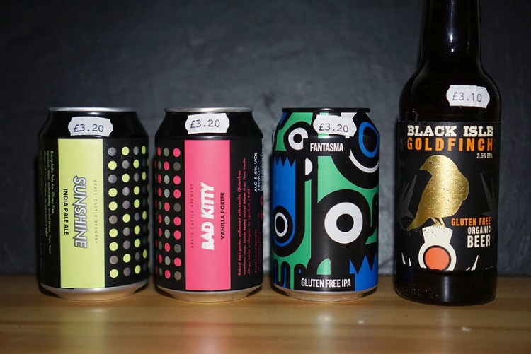 Gluten free beers from Indie Beers in Holloway | gluten free Islington guide | North London | Fantasma IPA | Bad Kitty vanilla porter