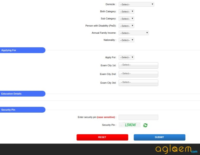 OJEE MBA Application Form 2018