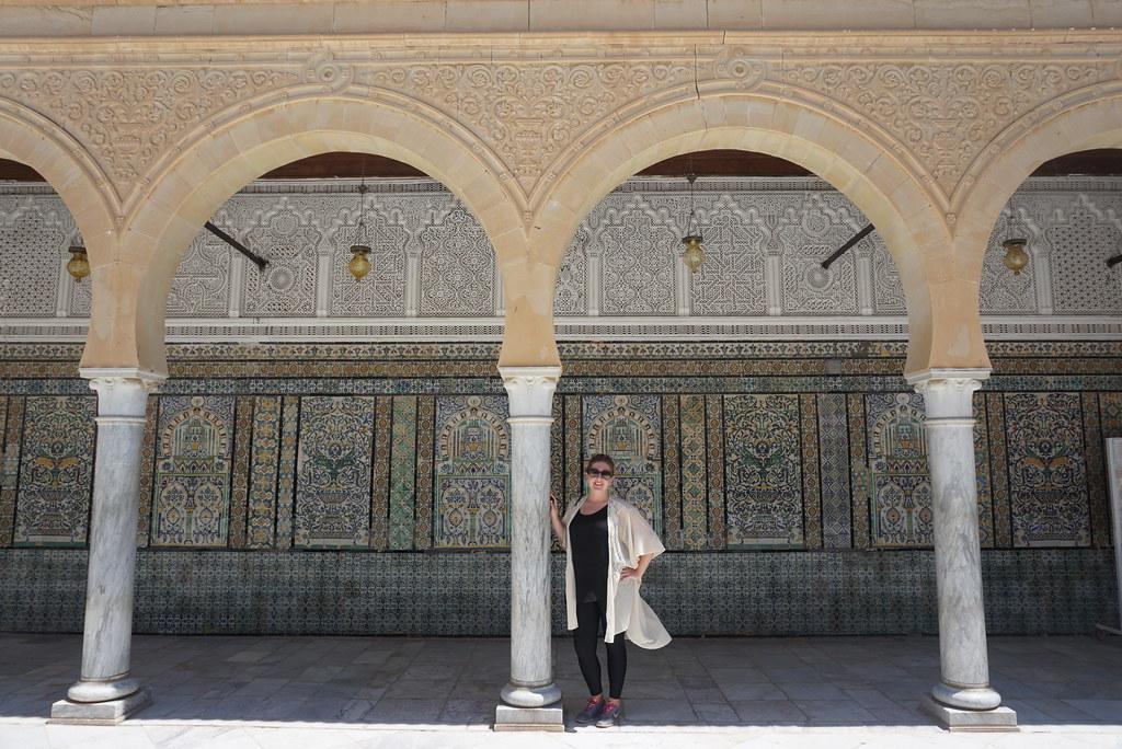 kairouan tunisia mosque of the barber mosaics
