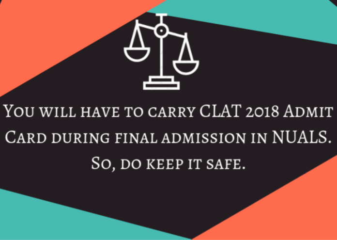 CLAT 2018 Admit Card