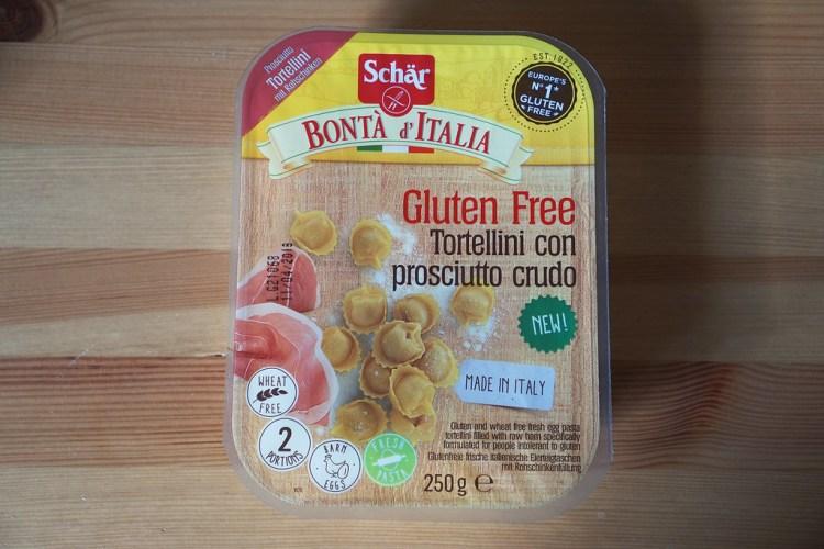 Gluten free Schar tortellini | Bonta d'Italia | prosciutto crudo | gluten free fresh pasta | product review | free from | UK | Morrisons