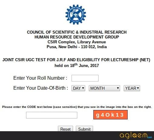 CSIR NET Result 2018 (June) Check Cutoff Marks, JRF Rank
