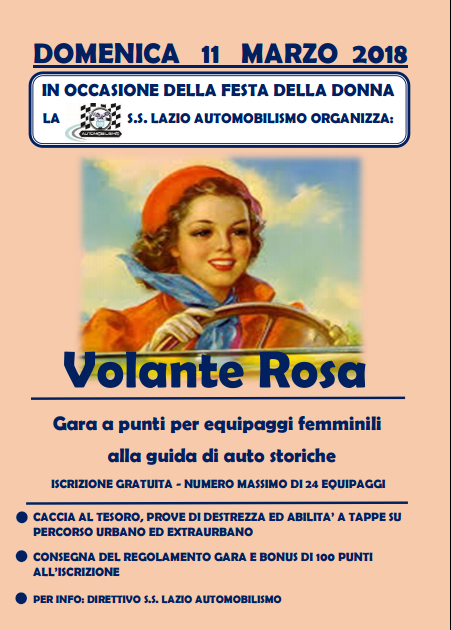 La locandina di Volante Rosa