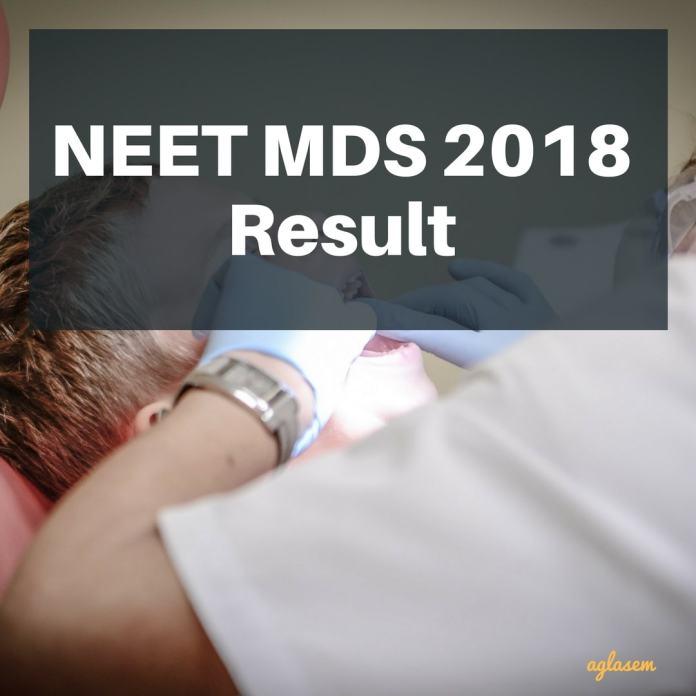NEET MDS 2018 Result Revised: Check at nbe.edu.in   Scorecard, Merit list
