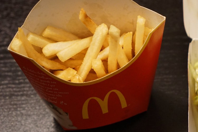 McDonald's fries | gluten free Islington guide