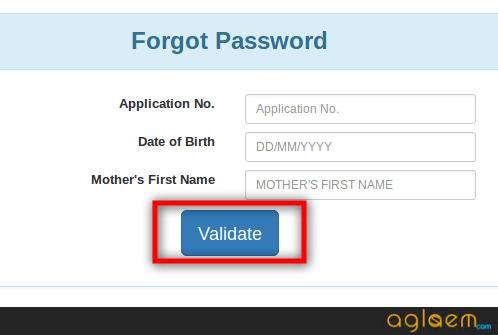 MH CET 2018 forgot password