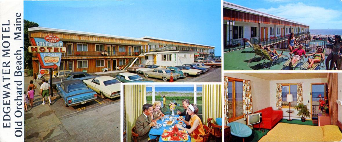 Edgewater Motel - 57 West Grand Avenue, Old Orchard Beach, Maine U.S.A. - 1960's
