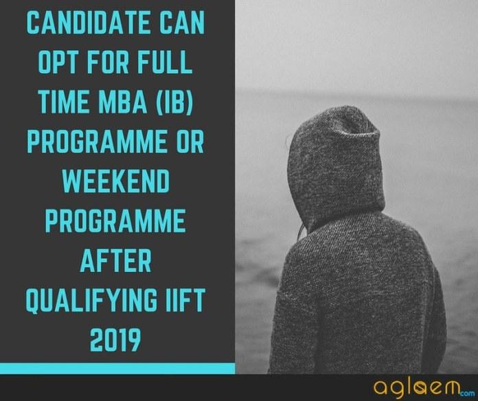 IIFT Admit Card for MBA (IB) 2019