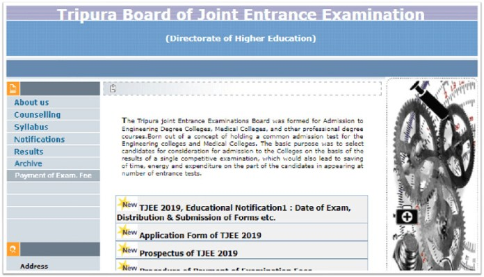 TBJEE 2019 Admit Card
