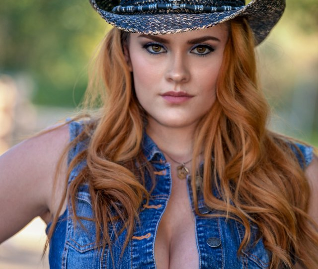 Portrait Of A Gorgeous Redhead Cowgirl By Alaskan Dude