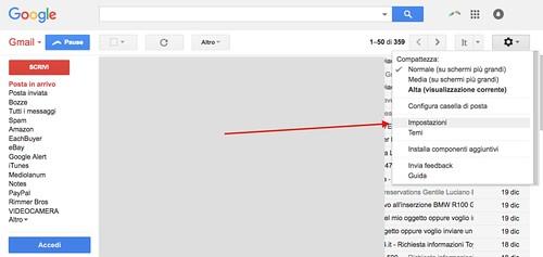 Impostazioni di Gmail