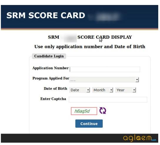 SRMJEEE Result 2019 Score Card