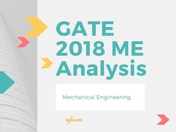 GATE 2018 Analysis of Mechanical Engineering (ME)