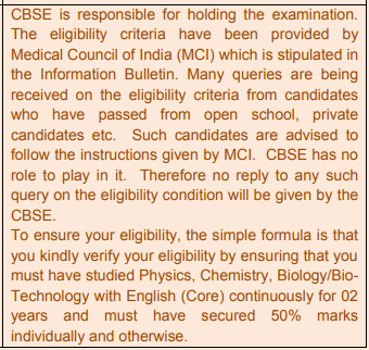 CBSE NEET UG 2018 Frequently Asked Questions (FAQs) with their Answers