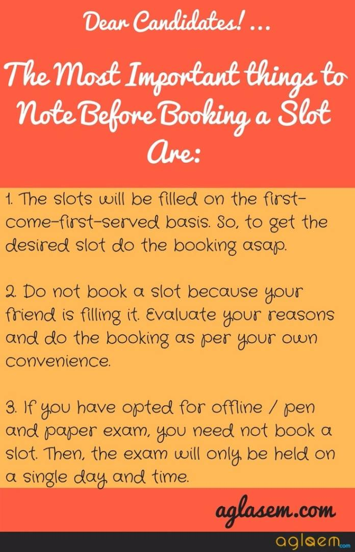 AEEE 2018 Slot Booking