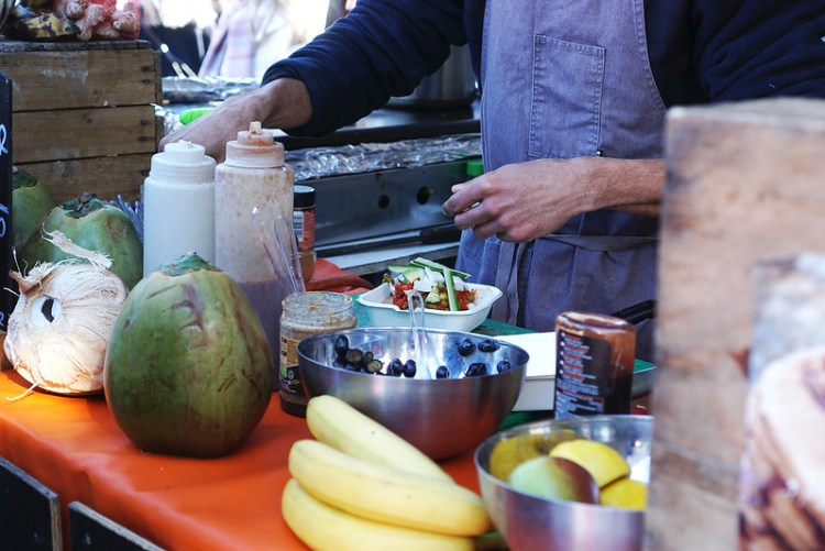 Ocu Coconut | gluten free and vegan pancake stall in Broadway Market | North London