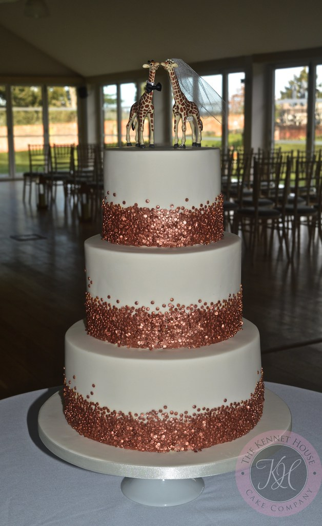 Rose Gold Sequin Wedding Cake Anna Adams Flickr