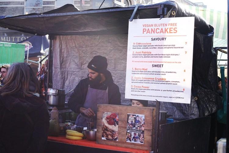 Ocu Coconut | gluten free and vegan pancake stall in Broadway Market | North London