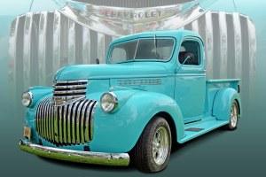 Rockin' Robin Egg Blue  1941 Chevy Pickup   This Rocking