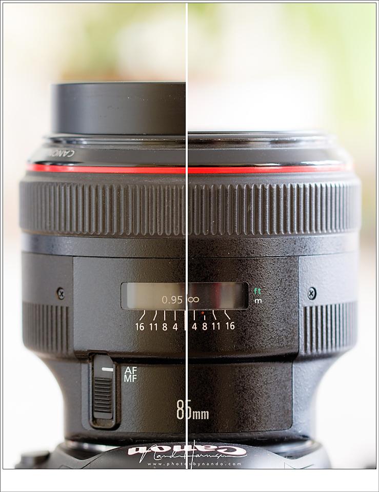 De lens verandert in lengte bij het focussen. Even de lens indraaien lukt niet als de lens niet op een camera zit die