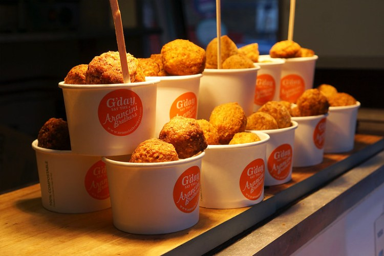 Risotto Balls market stall | gluten free Broadway Market guide | Hackney | East London