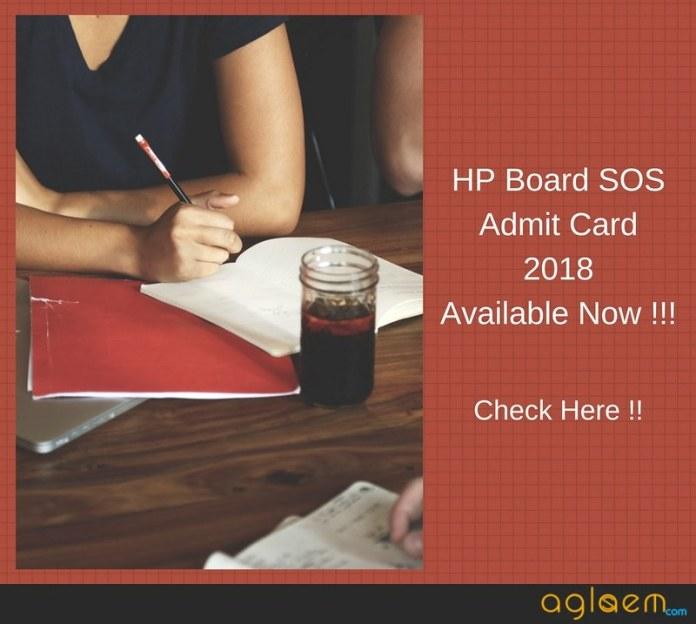 HP Board SOS Admit card 2018