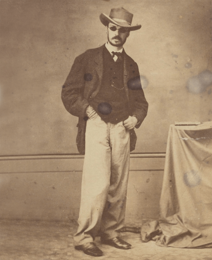 William James en Brasil después de un ataque de viruela en 1865. Houghton Library, Harvard University