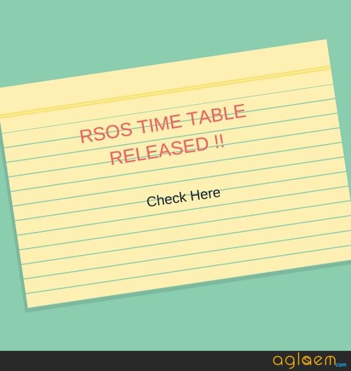 RSOS 12th time Table 2018