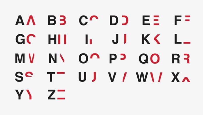 Britton diseñó un abecedario alterado con la finalidad de que la gente entienda a las personas que sufren dislexia