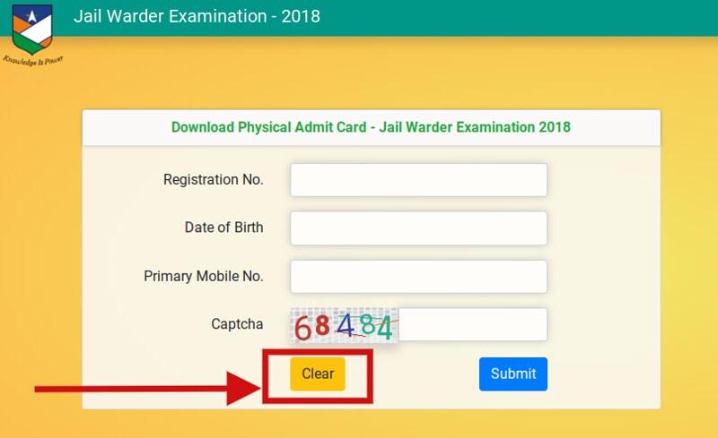Rajasthan Jail Prahari Admit Card 2018 - for PET