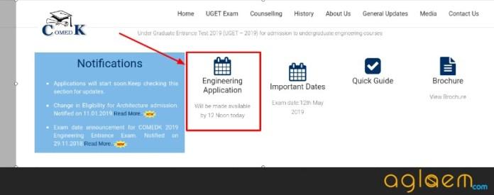 COMEDK 2019 Application Form