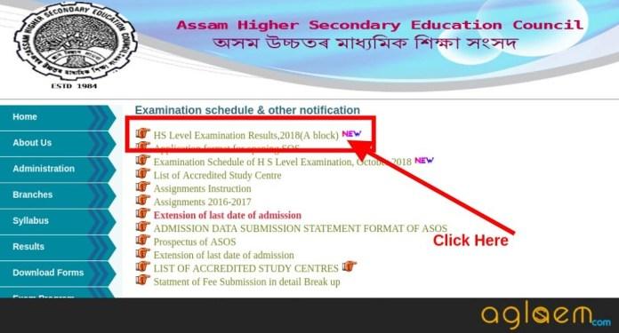 Assam Open School HS B Block October Routine 2018