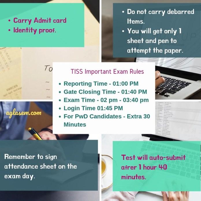5 Key Rules for TISSNET 2019 Exam