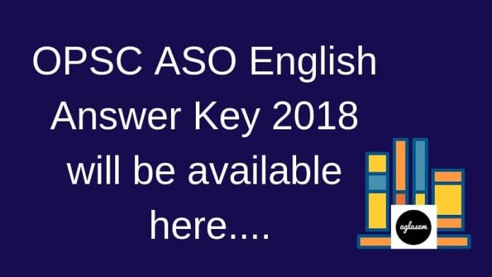 OPSC ASO Answer key 2018 - English