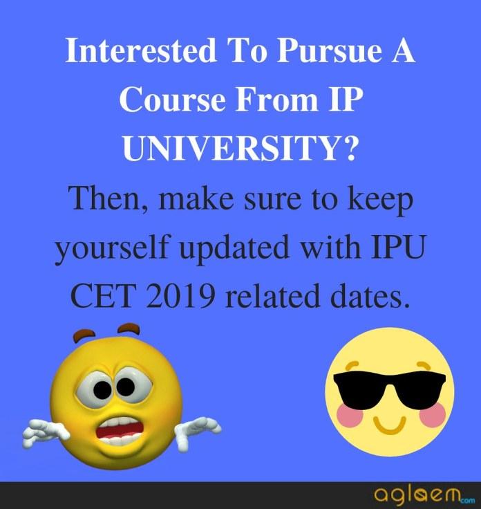ipu cet 2019 important dates
