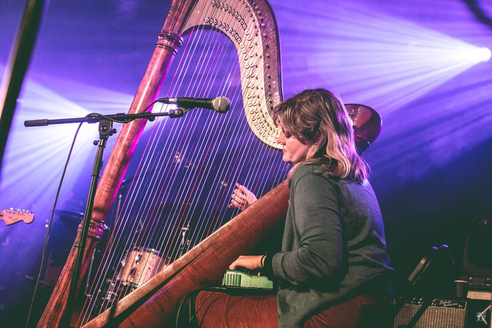 Musicians Meg Baird and Mary Lattimore performing at Limelight Belfast in Belfast, Ireland on November 15th, 2018