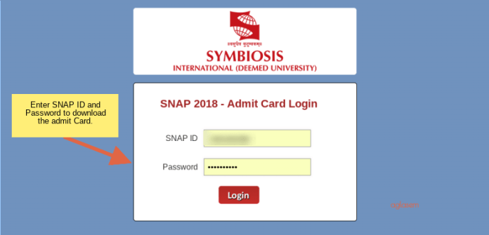 SNAP 2018 Admit Card