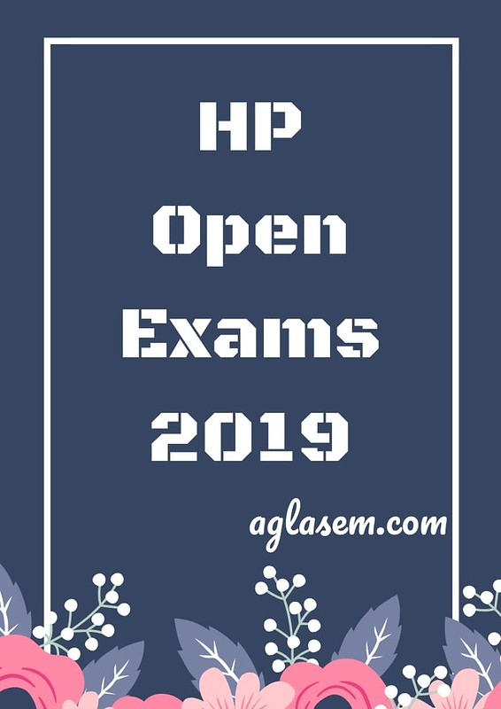 HP Open Date Sheet 2019