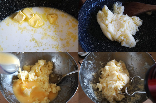 Gluten free choux pastry making process