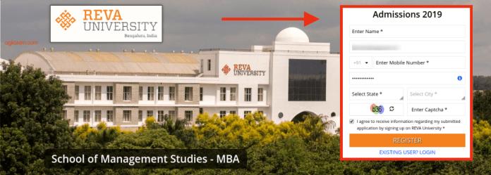 REVA MAT 2019 Registration