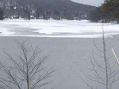 A frozen view of Deep Creek Lake