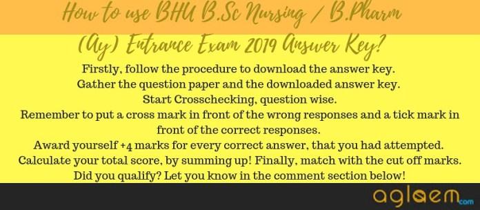 Answer Keys forBHU B.Sc Nursing / B.Pharm (Ay) Entrance Exam 2019