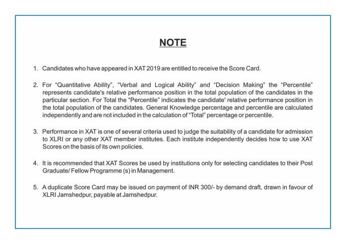 XAT 2019 duplicate Result Request