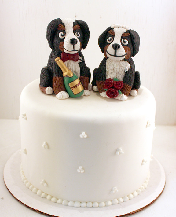 Bride   Groom Burmese Mountain Dog Wedding Cake Topper   Flickr     Bride   Groom Burmese Mountain Dog Wedding Cake Topper   by Karly West