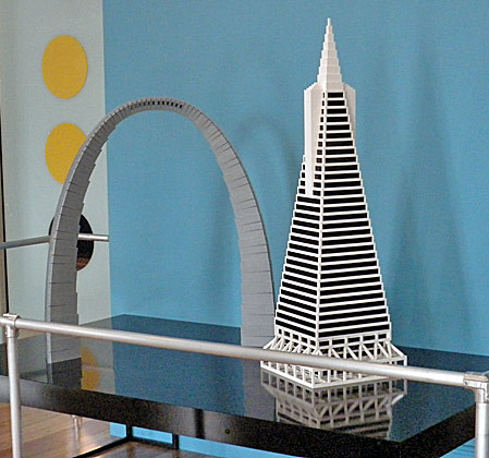 Lego Architecture   Gateway Arch and Transamerica Pyramid   Flickr     Lego Architecture   Gateway Arch and Transamerica Pyramid   by Nicki 979