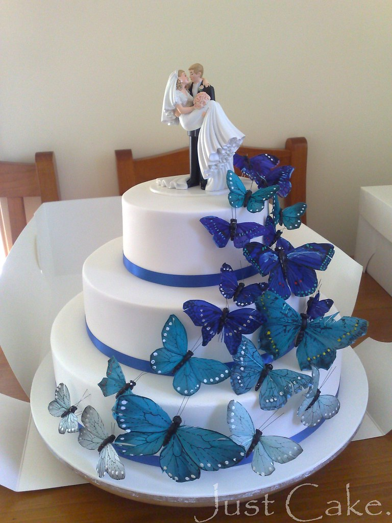 Butterflies wedding cake   Quicky photo with my phone this a      Flickr     Butterflies wedding cake   by Just Cake by Em