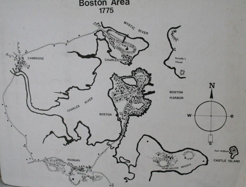 Map of the Boston Area in 1775  showing the relationship o      Flickr     Map of the Boston Area in 1775  showing the relationship of the  Charlestown peninsula and