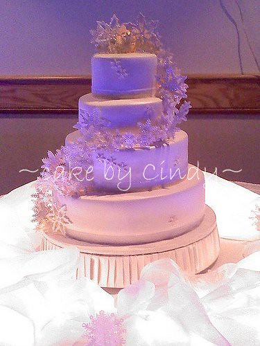 snowflake wedding cake at night    this was absolutely magic      Flickr by cdgleason snowflake wedding cake at night    by cdgleason