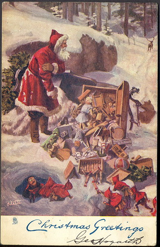 1905 Christmas Disaster Red Santa Sleigh Accident Raphale